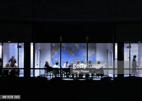 Business meeting in conference room, view through window : Stock Photo