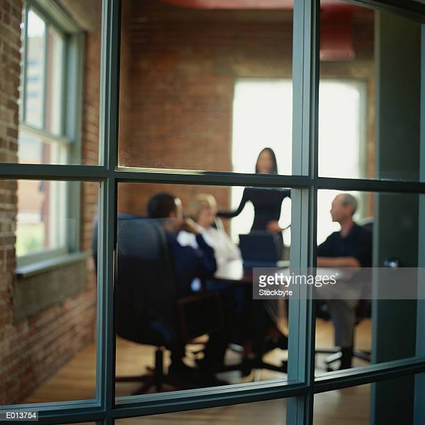 Business Meeting in Loft Office