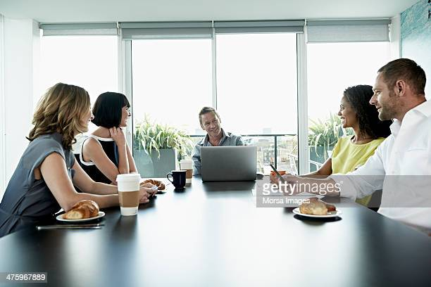 Business meeting in modern office
