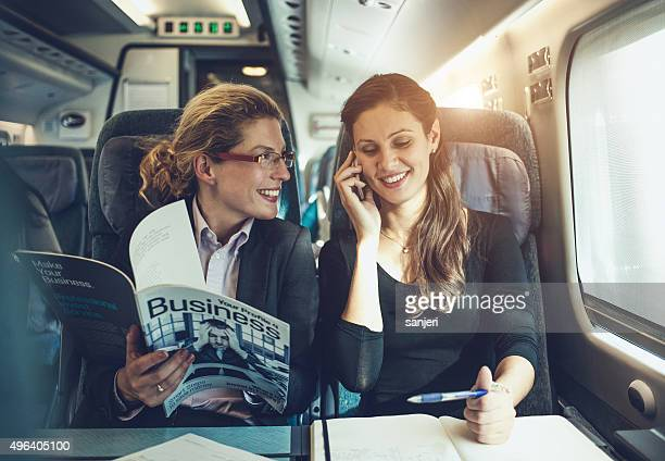 Réunion d'affaires dans le train