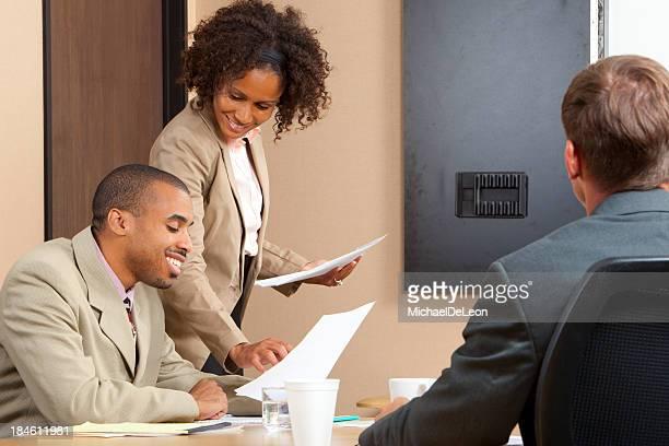 Business meetings between colleagues