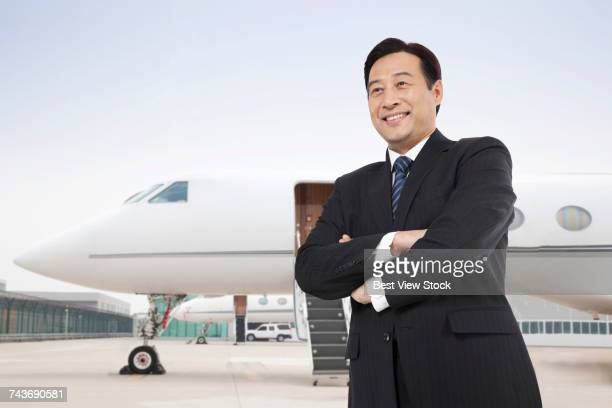 Business men and private aircraft