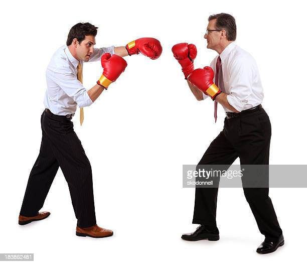 Business Men Boxing Each Other
