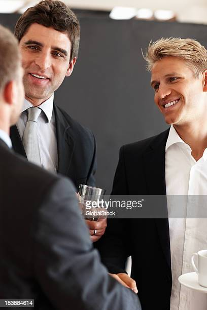 Business men enjoying their break