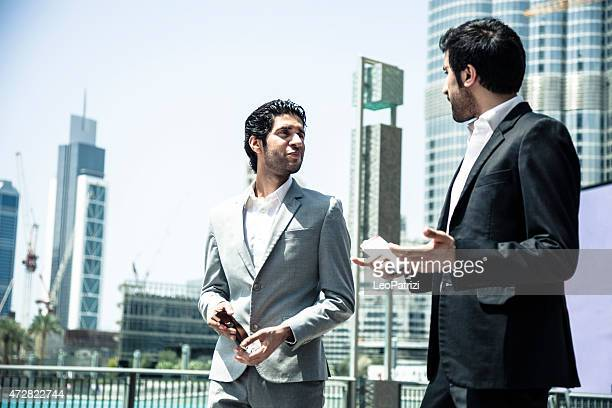Business men in Downtown Dubai