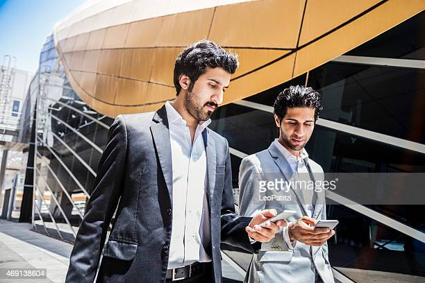 Business men in travel