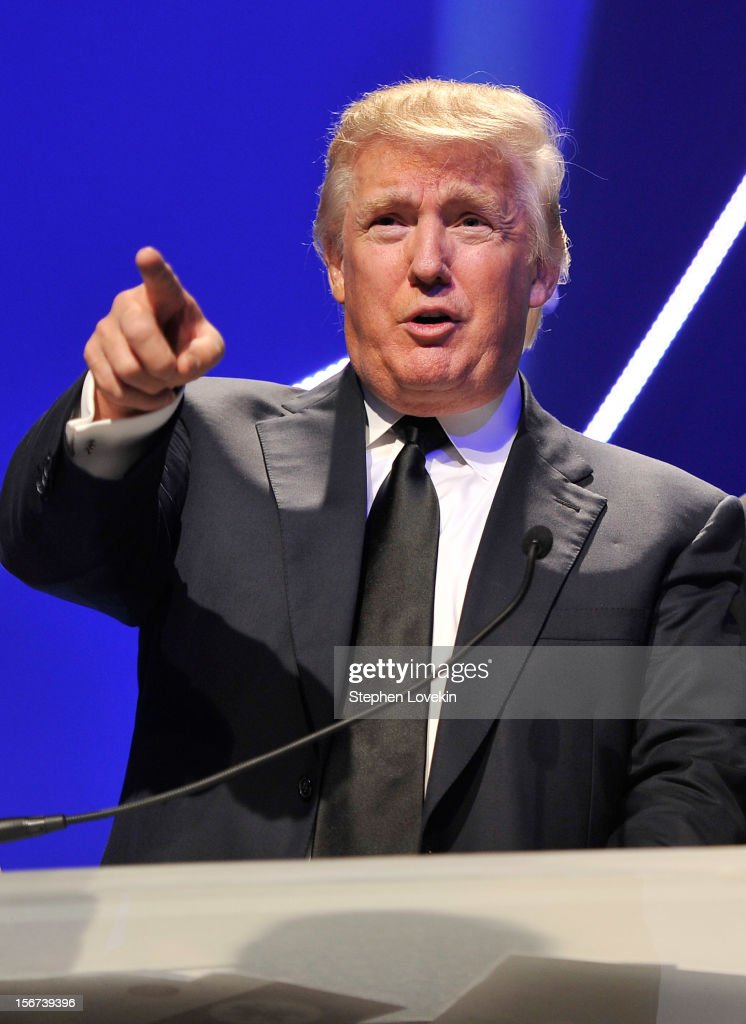 Business mogul/TV personality Donald Trump attends the 2012 Golden Goggle awards at the Marriott Marquis Times Square on November 19, 2012 in New York City.
