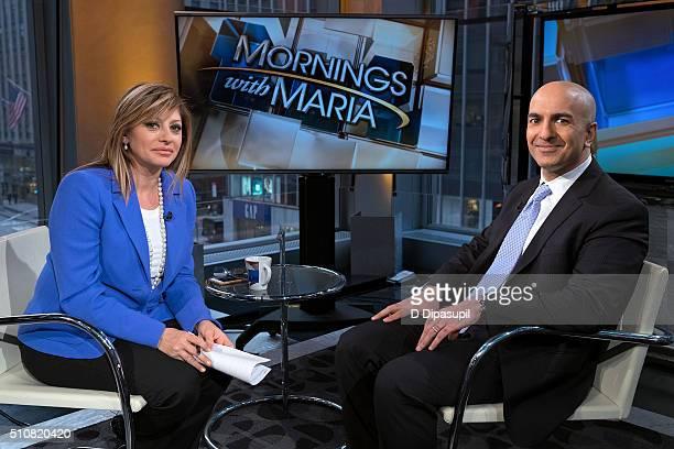 Business Network's Maria Bartiromo interviews Minneapolis Federal Reserve president Neel Kashkari at FOX Studios on February 17 2016 in New York City