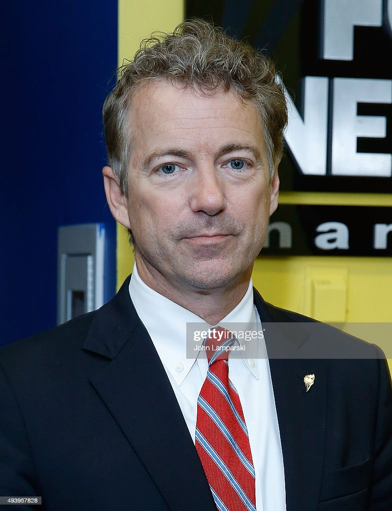 Business Network's Melissa Francis interviews Senator <a gi-track='captionPersonalityLinkClicked' href=/galleries/search?phrase=Rand+Paul&family=editorial&specificpeople=6939188 ng-click='$event.stopPropagation()'>Rand Paul</a> at FOX Studios on October 23, 2015 in New York City.