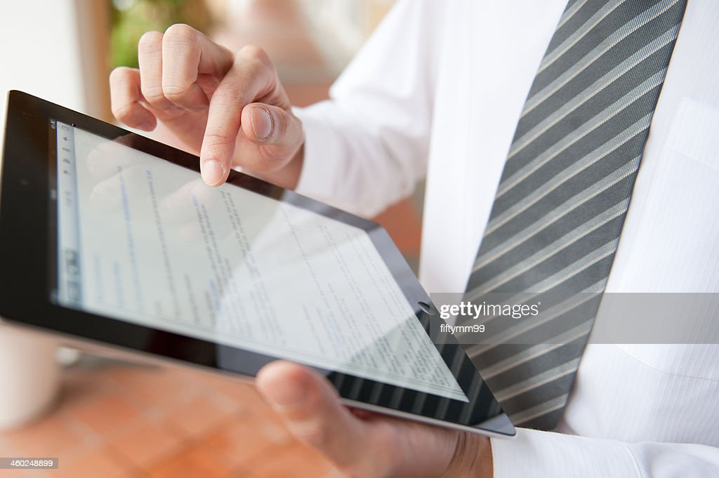 Business on ipad : Stock Photo