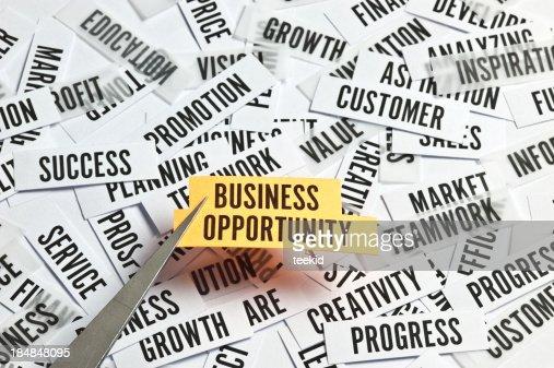 ビジネスの機会のコンセプト