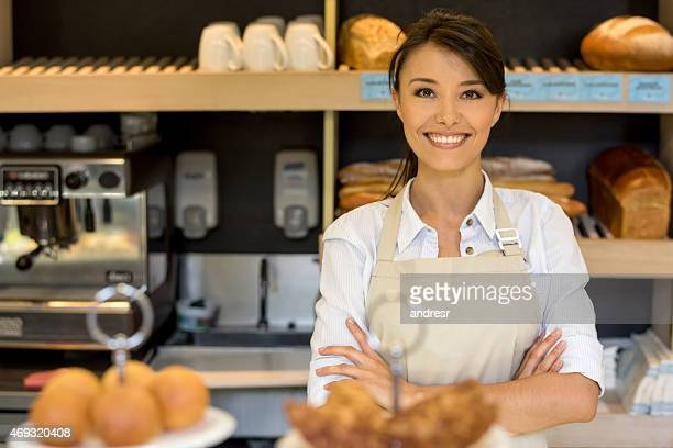 Business owner at a bakery