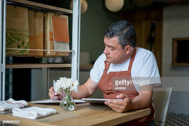 Business owner at a restaurant