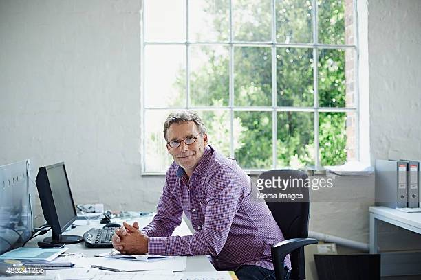 Business owner at his desk