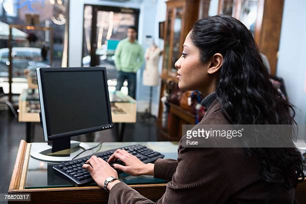 Business Owner Using Computer