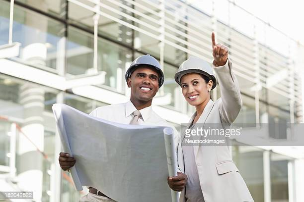 Business Partners at a Construction Site