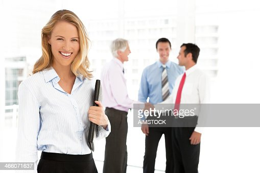 Business partners closing a deal : Stock Photo