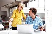 business partners  pick a quarrel