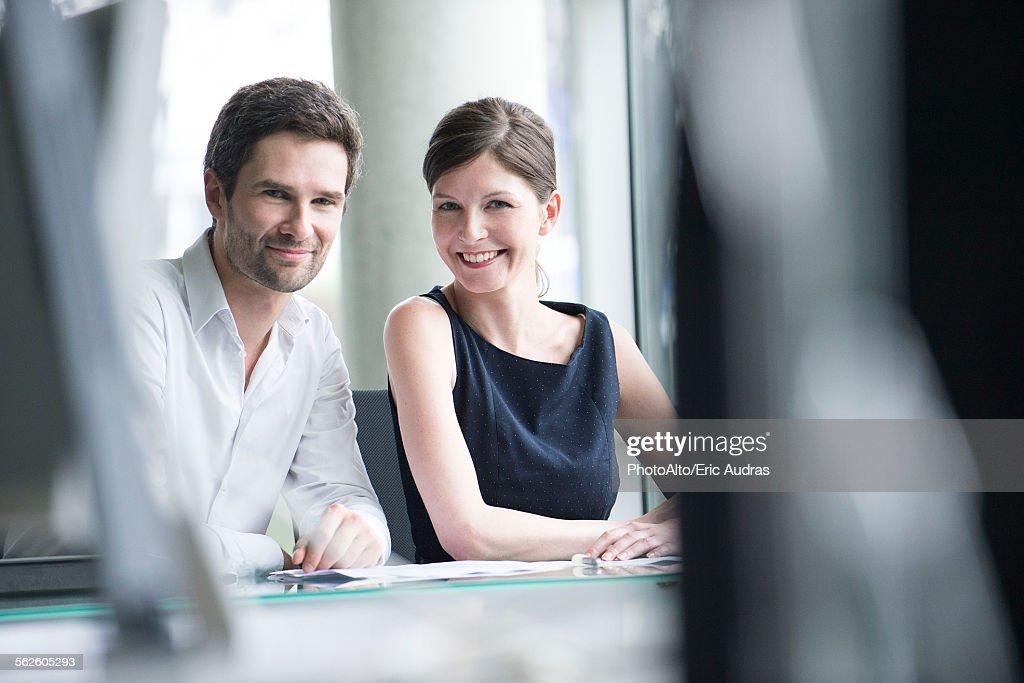 Business partners, portrait