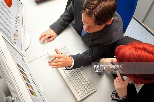 business people analyzing some data