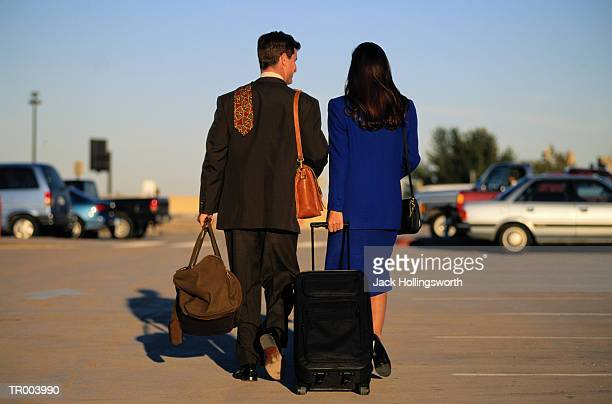 Business People at Airport Parking Lot