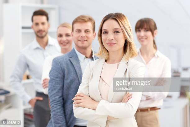 Gente de negocios en reunión.