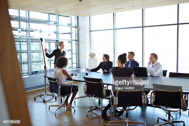 Business people at strategy presentation