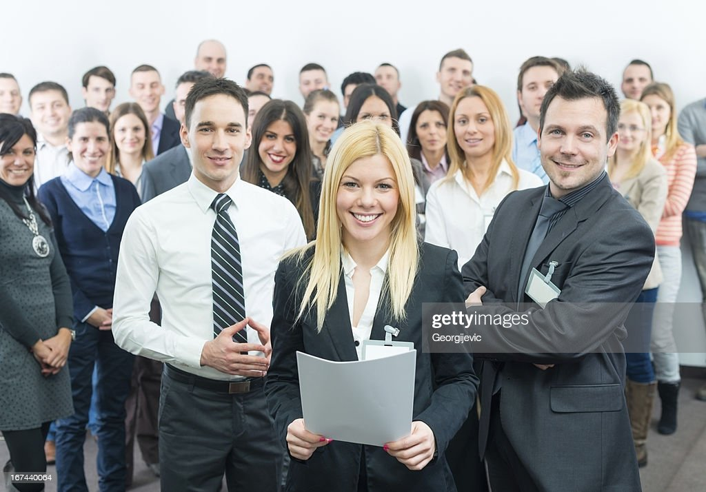 Business people at the seminar : Stock Photo