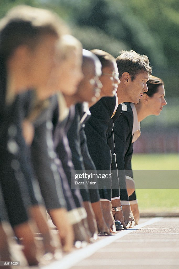 Business People at the Starting Line : Stock Photo