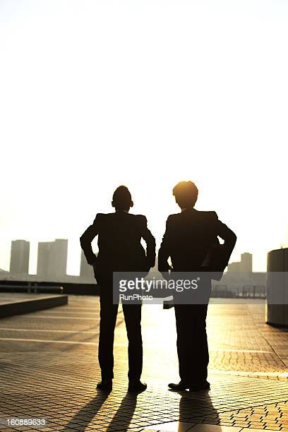Business people at twilight
