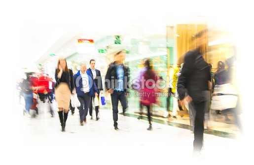 Business people blur.