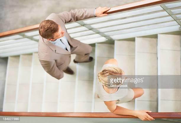 Business Personen Klettern Schritte