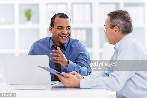Business people communicating.