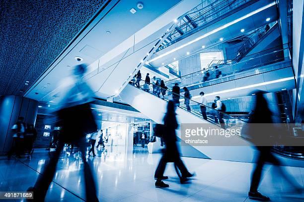 Business people commuting  of hong kong