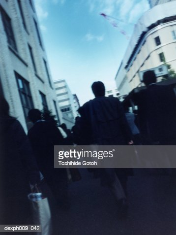 Business people commuting : Stock Photo