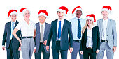 Business People Corporate Celebration Christmas Concept