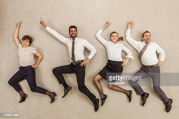 Business people dancing in office