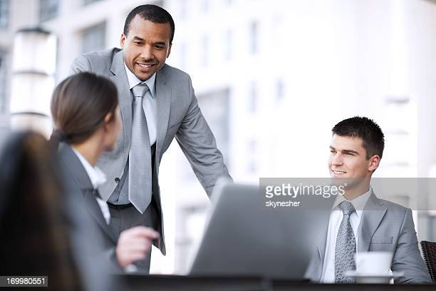 Business people discussing on a meeting.