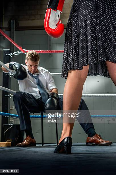 Business people fight, Conflict Between Couple