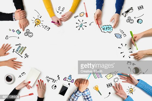 Business people group works at a table - Table : Stock Photo