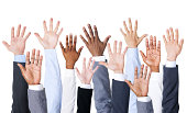 Business People Hands Up