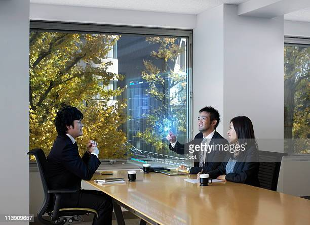 Business people having a meeting at board room