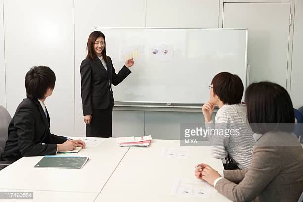 Business people having a meeting at meeting room