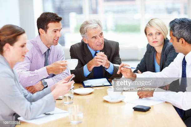 Business people having a meeting at office