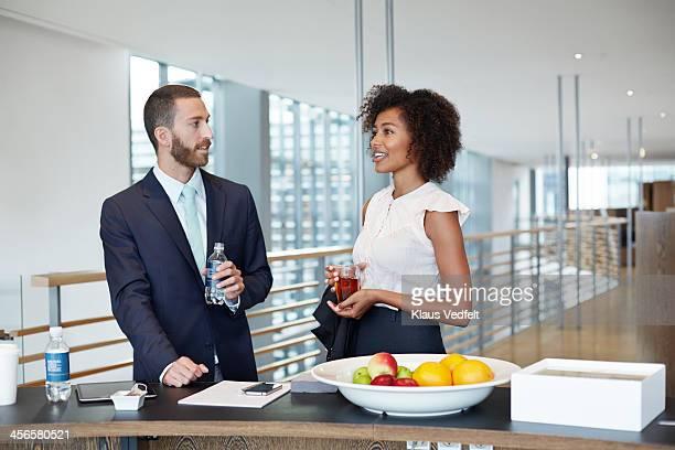 Business people having a tea & coffee break