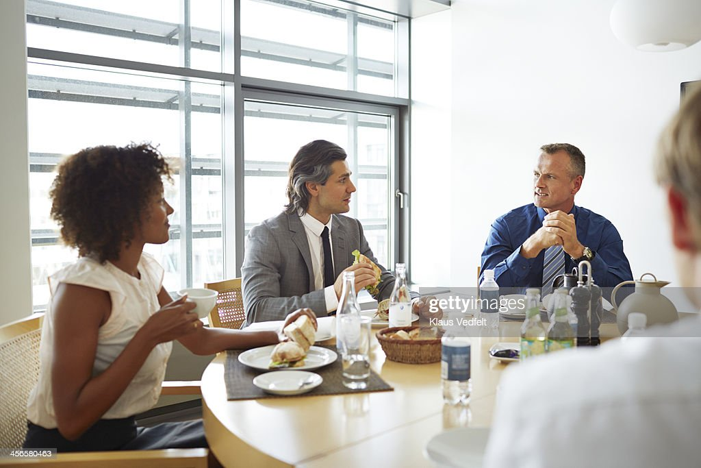 Business people having lunch meeting : Stock Photo