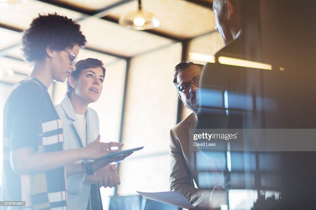 Business people having meeting : Stock Photo