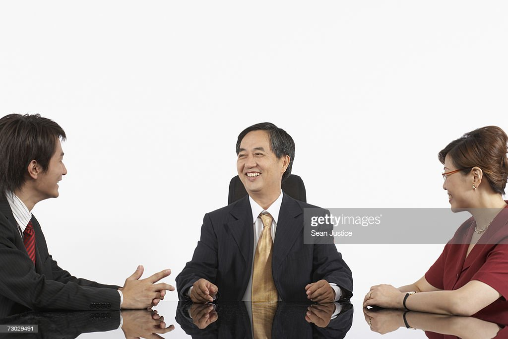 Business people having meeting : Stock Photo