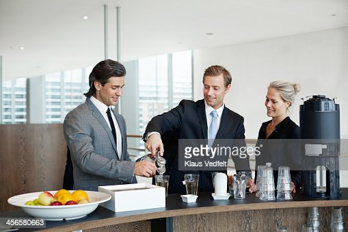 Business People Having Tea And Coffee Break Stock Photo ...