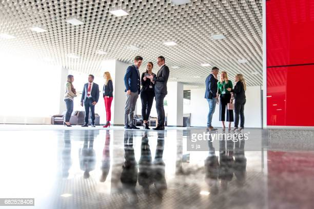 Business people in a lobby